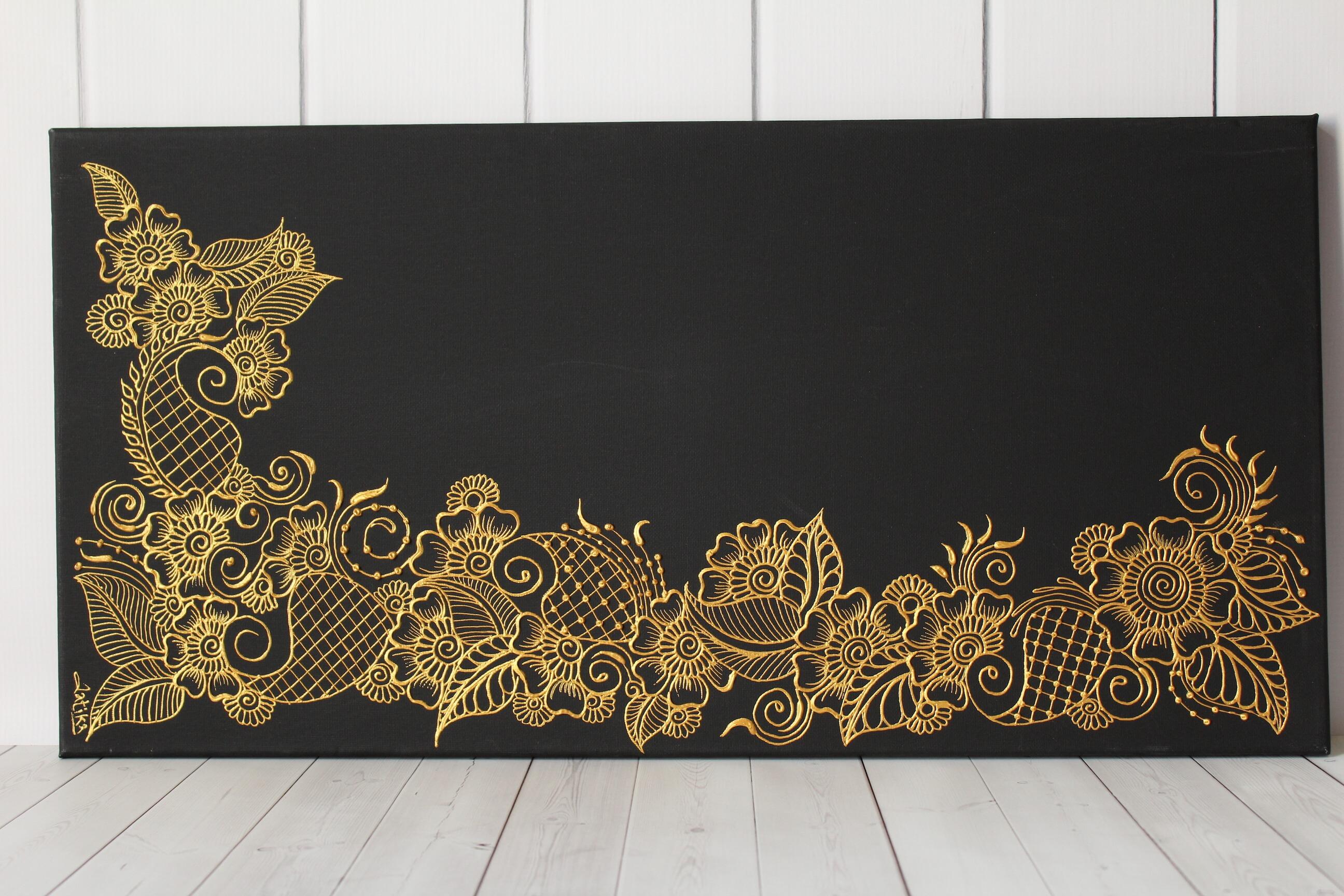 Floral Henna Art