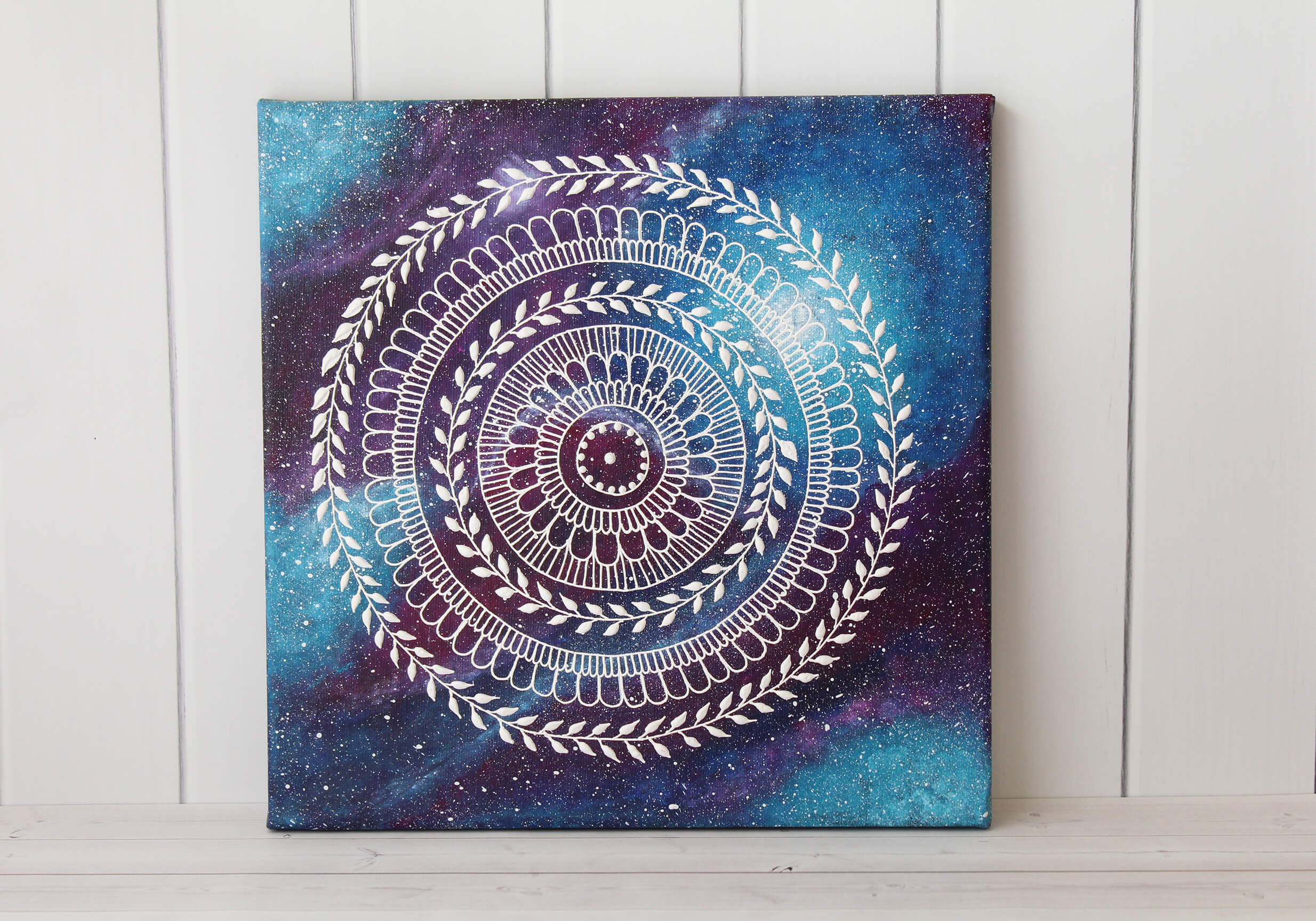 Henna Art: Galaxy Mandala Henna Painting available in our shop
