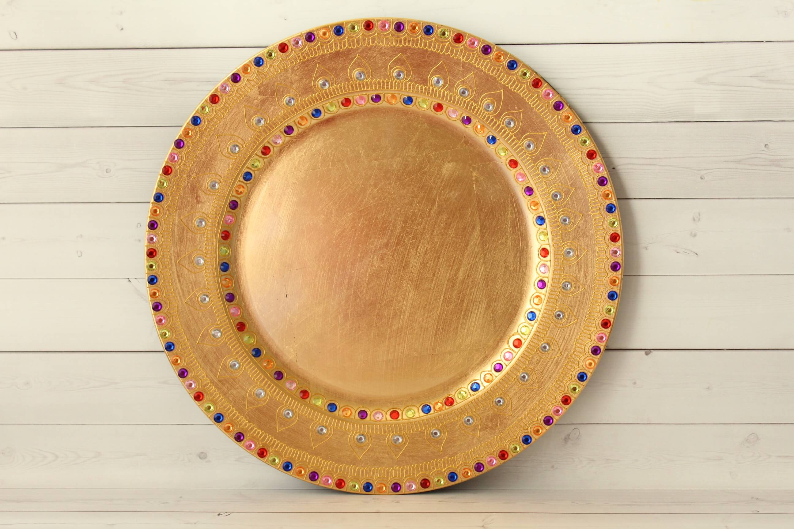 Golden Charger Plate - Product Picture