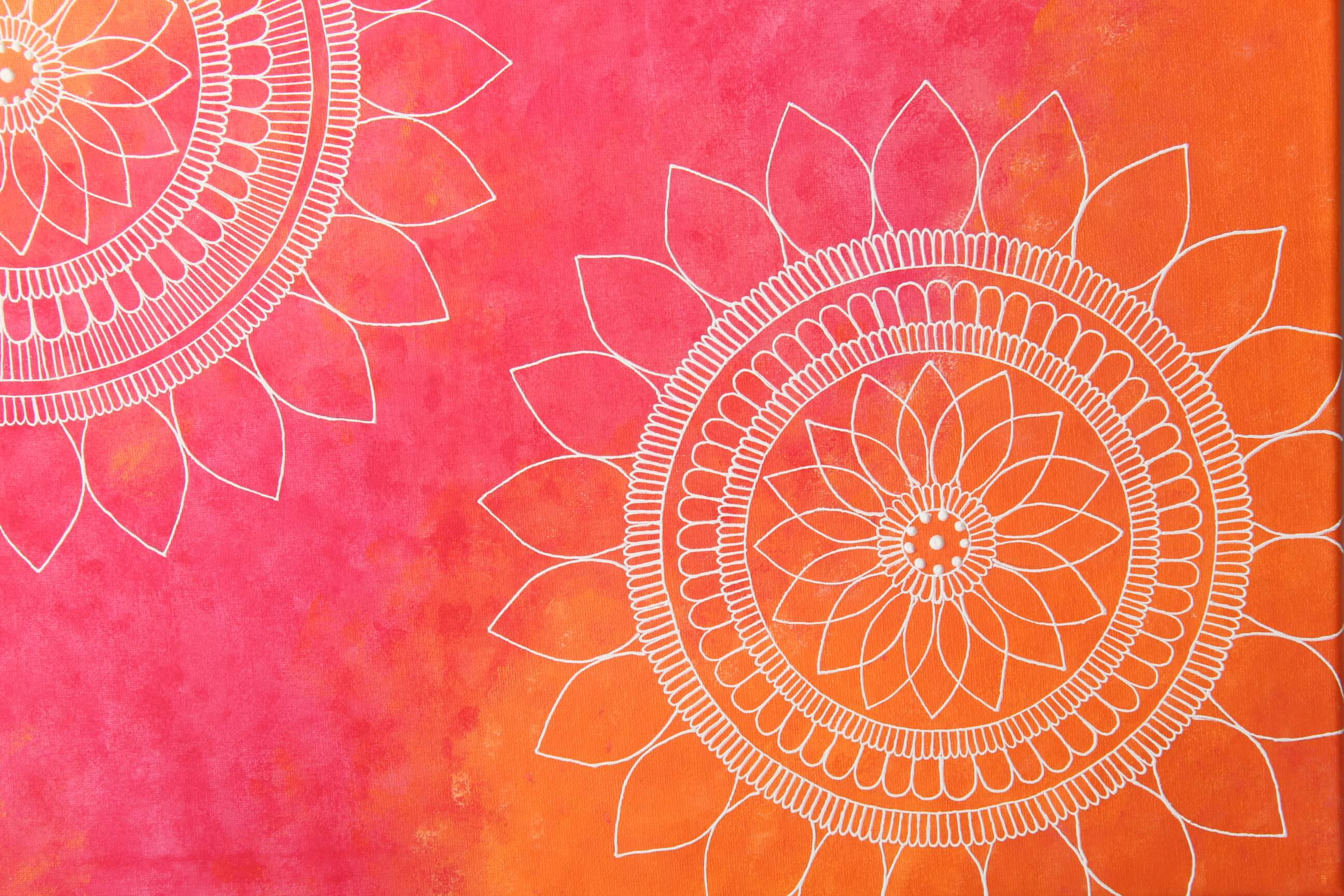 Sunset Mandalas Art
