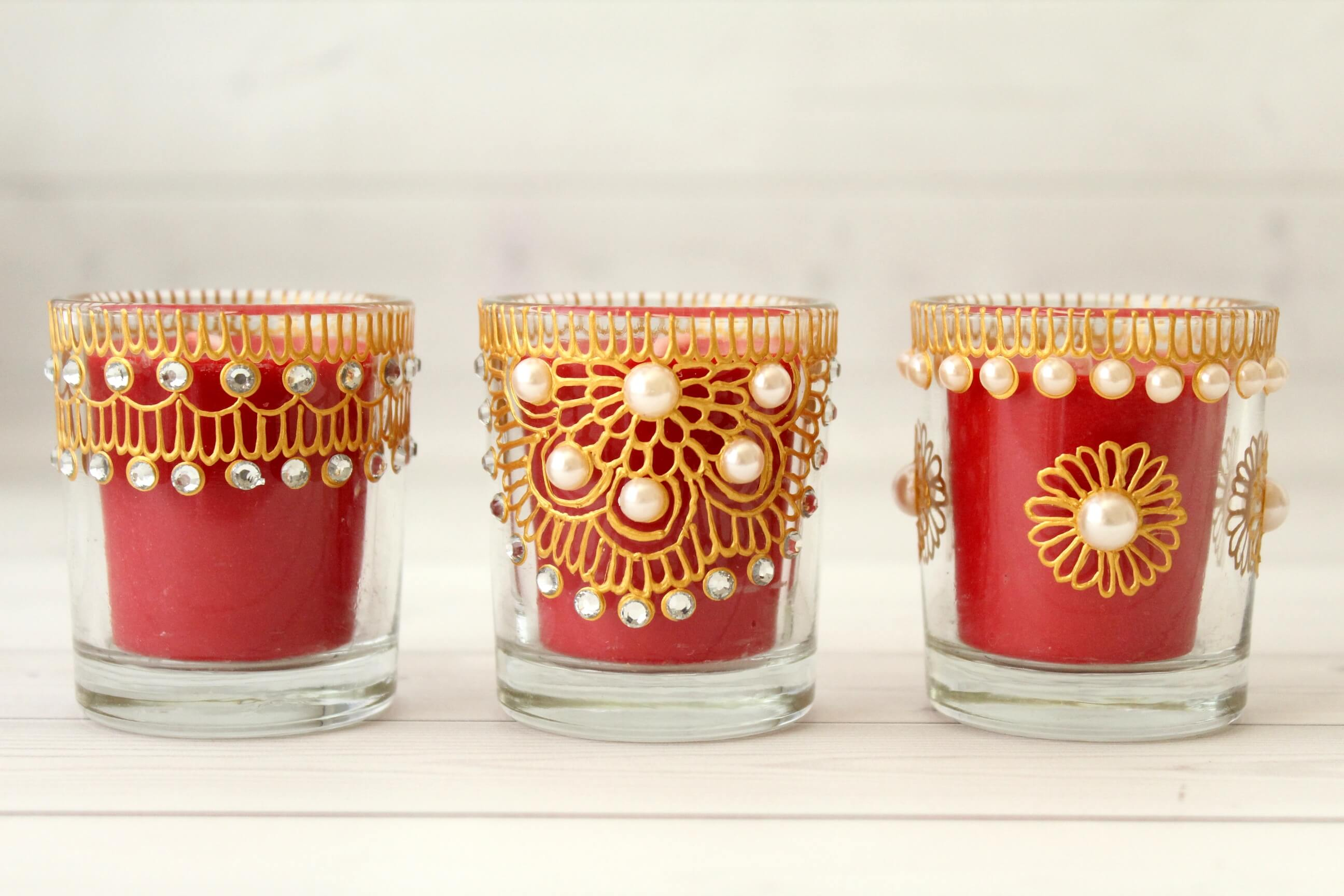 Votive Candle Holders - Cherry/Red