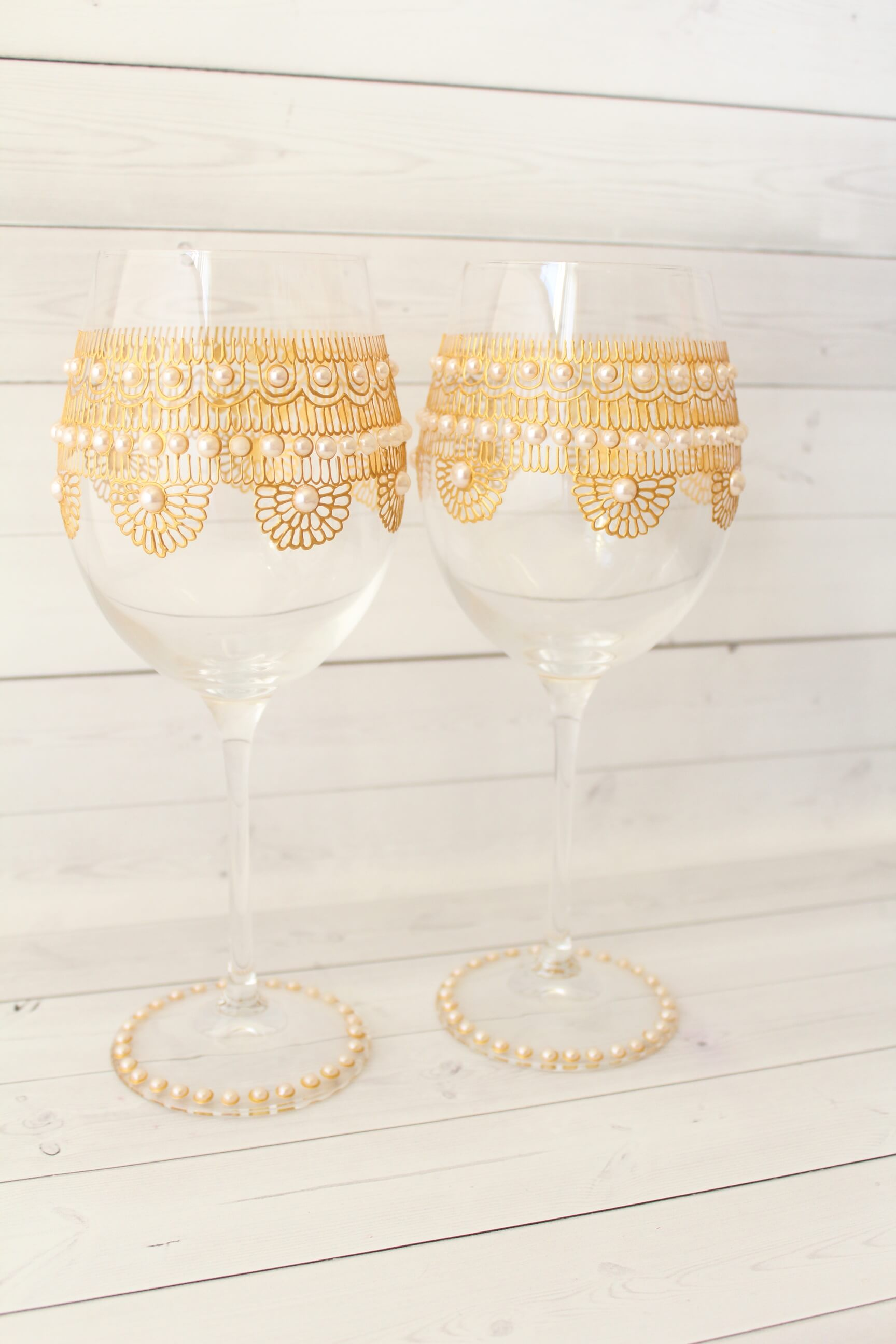 Unique Hand Painted Wine Glasses