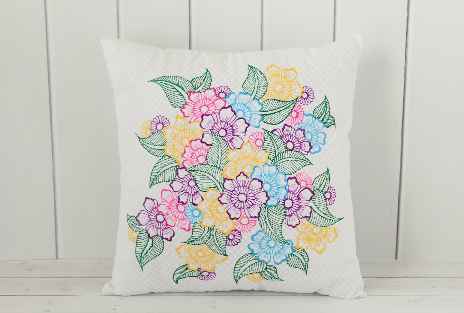 Floral Throw Pillow from Lavender Henna