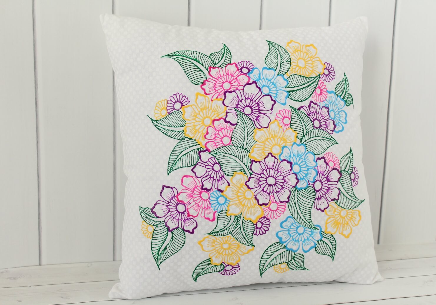 Floral Throw Pillow - Lavender Henna
