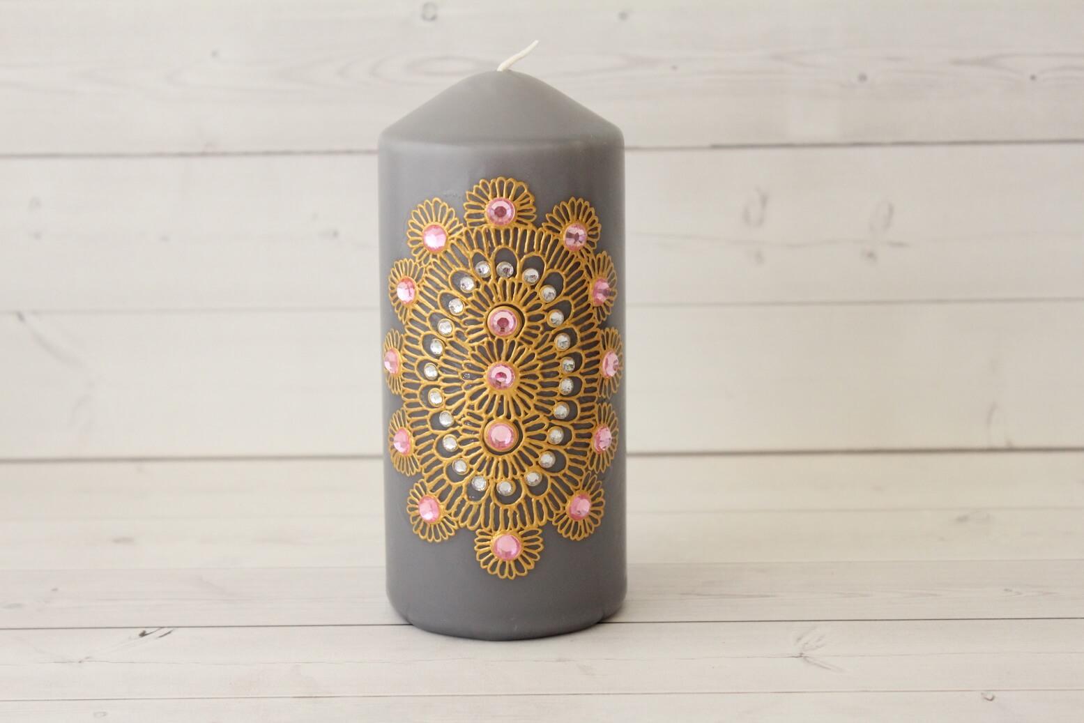 Grey Henna Candle