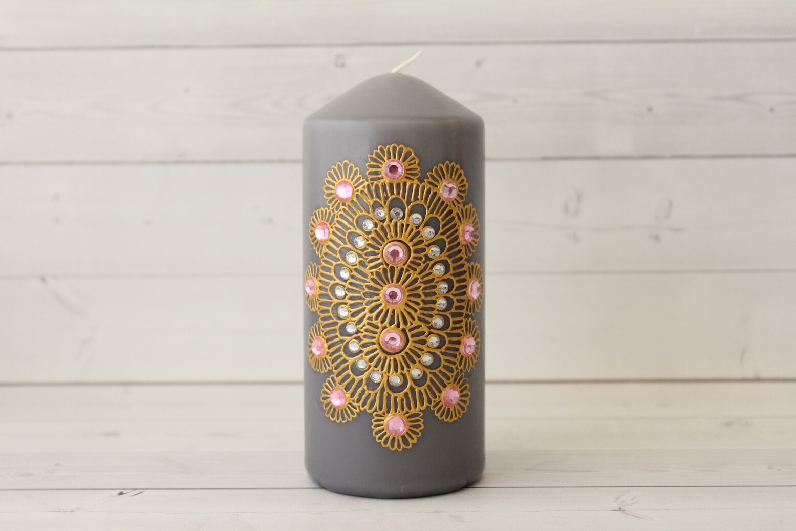 Grey Candle from Lavender Henna