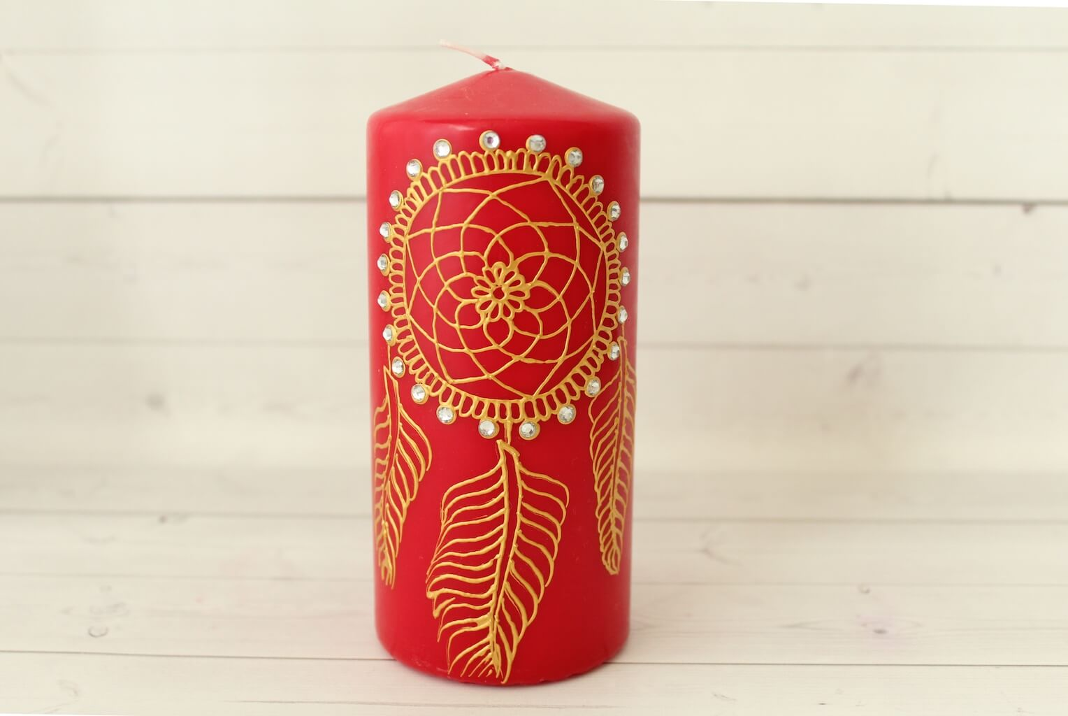 Red Dream Catcher Candle from Lavender Henna