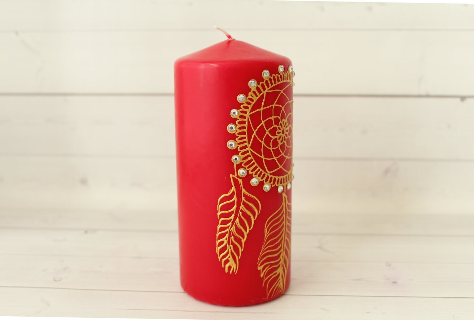 Red Dream Catcher Candle - Henna Candles